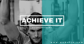motivational gym and fitness center advertise รูปภาพที่แบ่งปันบน Facebook template
