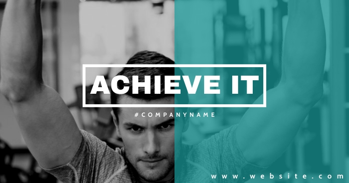 motivational gym and fitness center advertise Facebook Shared Image template