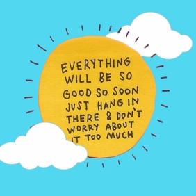 Motivational instagram post