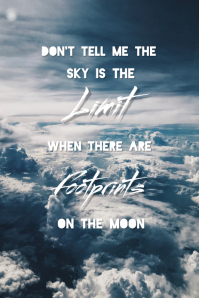 Motivational quote#5 Pinterest Graphic template