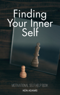 Motivational self help book cover Capa do Kindle template