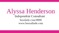 Paparazzi independent consultant jewelry business card template