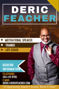 motivational speaker flyer template
