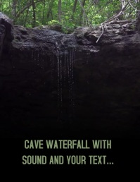MOTIVATIONAL WATERFALL CAVE