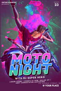 Moto Party Flyer Template