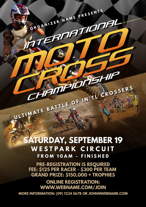 Motocross Championship Flyer