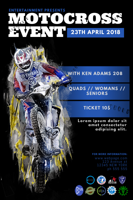 Motocross Event Poster Template Postermywall