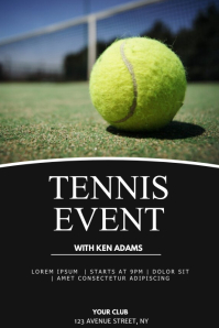 Tennis event flyer template Poster