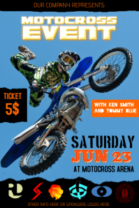 motocross event poster template