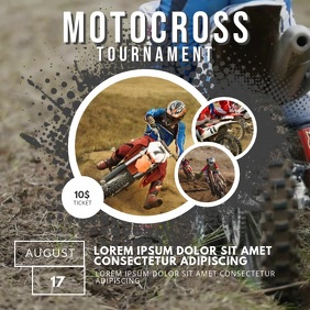 Motocross Event Promotion template video instagram