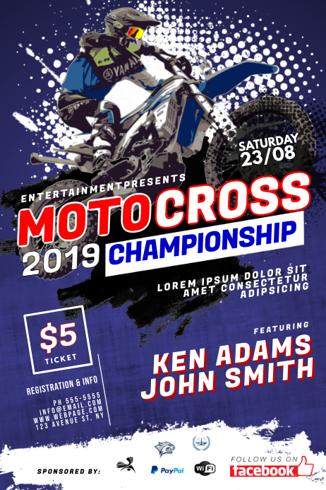 Motocross Flyer Template
