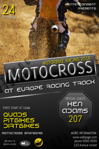 Motocross or Quad Racing Event Flyer Poster Template