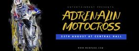 Motocross Sport Event Facebook Cover Template for motocross