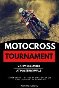 Motocross tournament flyer template