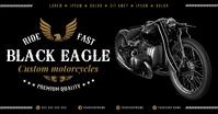 MOTORCYCLE BANNER Gambar Bersama Facebook template