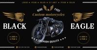 MOTORCYCLE BANNER รูปภาพที่แบ่งปันบน Facebook template