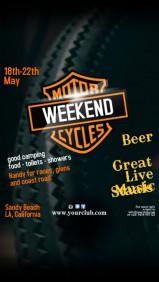 Motor Cycles Weekend Template
