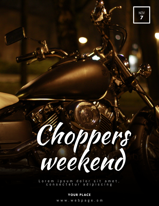 Motorcycle Event Flyer Template Postermywall