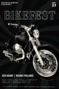 motorcycle event flyer