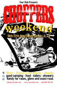 Motorcycle Event Poster