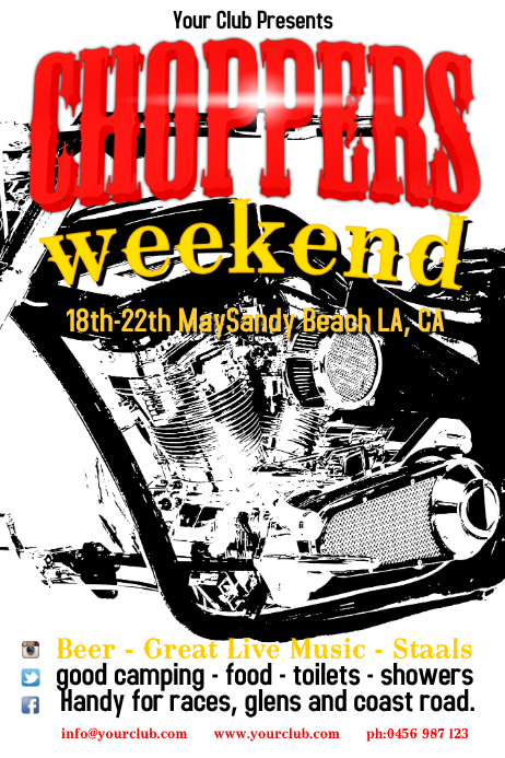 Motorcycle Event Poster Template Postermywall