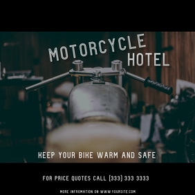 Motorcycle Hotel facebook ad Iphosti le-Instagram template