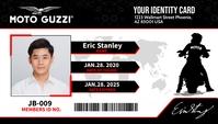 Motorcycle ID Kartu Bisnis template