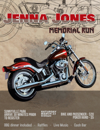 motorcycle memorial run rally flyer template