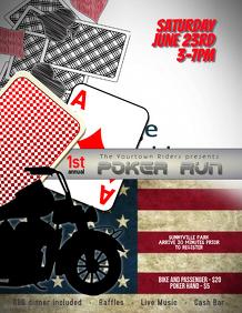 Motorcycle Poker Run event flyer