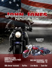 motorcycle run rally ad animated template