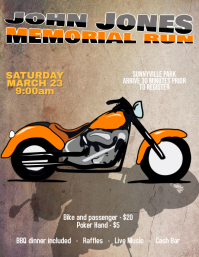 motorcycle run rally flyer template