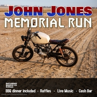 motorcycle run rally instagram template