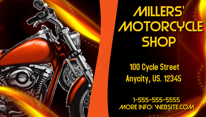 Motorcycle Shop Business Card Template Postermywall