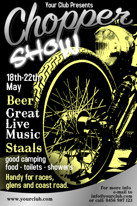motorcycle show flyer template