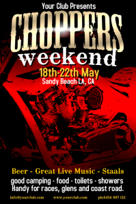 Motorcycle Show Poster