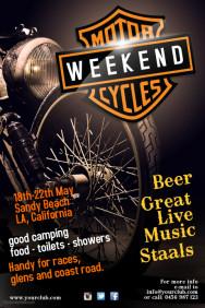 motorcycles weekend poster