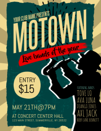 Motown Live Bands Flyer template