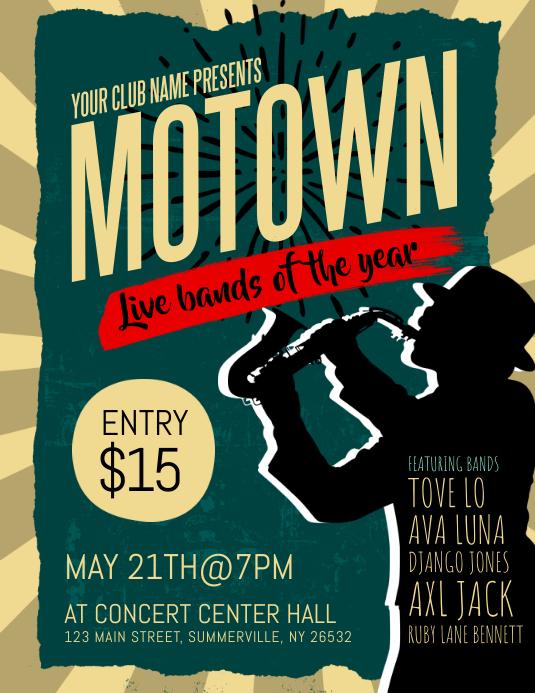 Motown Live Bands Flyer