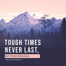 Mountain Aesthetic Tough Times Quote Instagram-opslag template