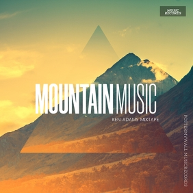 Mountain album Cover Template