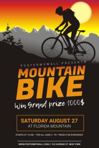 Mountain Bike Event Flyer Design template