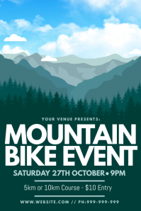 Mountain Bike Event Poster