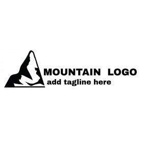 Mountain black and white logo