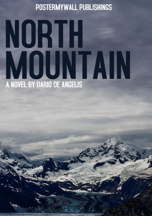 mountain book cover design template A4