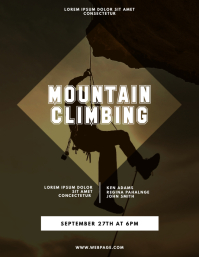 Mountain Climbing Flyer Design Template