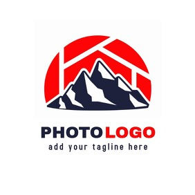 Mountain creative photo logo