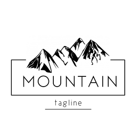 mountain minimal logo template