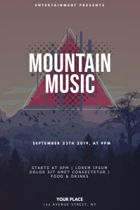 Mountain Music Party Flyer Design