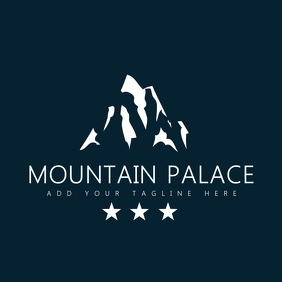 mountain palace resort icon logo template Logótipo