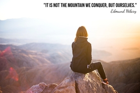 Mountain Quote Poster 2